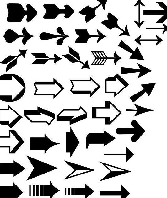 箭头矢量图图片免费下载 cdr 底纹边框 方向 花纹花边 箭头 箭头方向