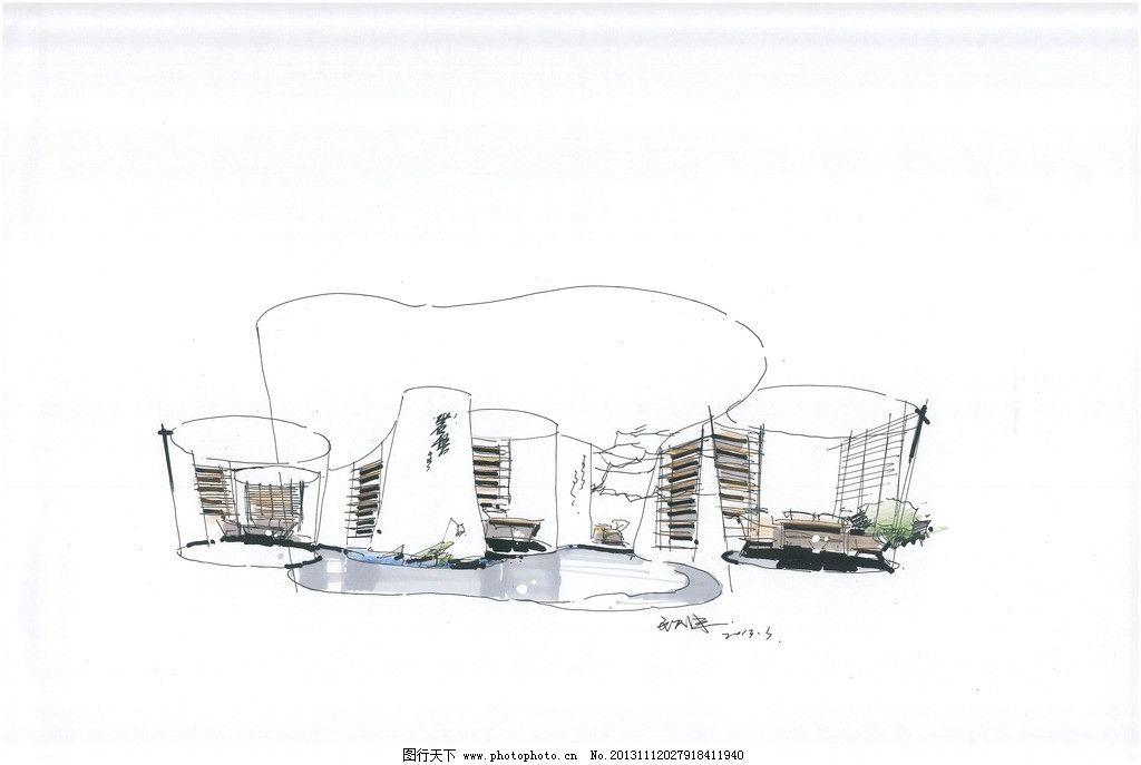 岩悟茶业 店铺设计 手绘表现 极简风格 武夷岩茶 岩悟 室内设计 环境
