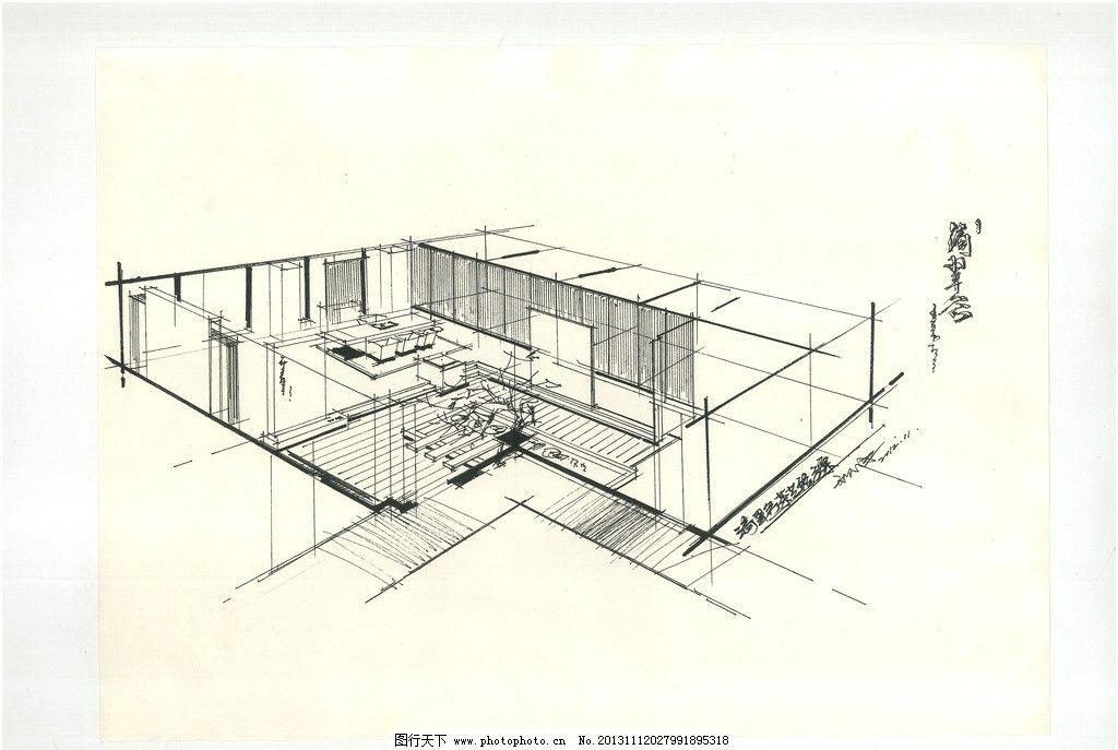 滴翠谷手绘 手绘表现 空间体现 茶馆设计 毛尖茶店铺 鸟瞰图 室内设计