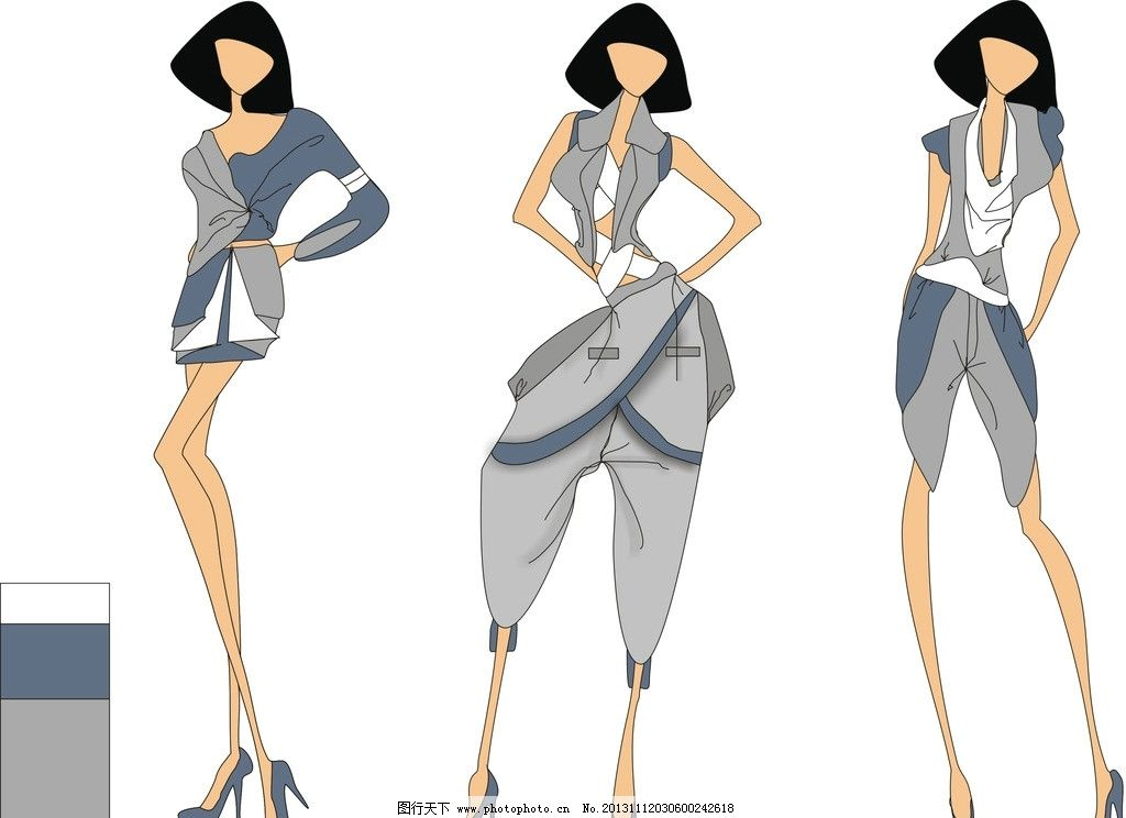 时尚服装设计 服装 美女