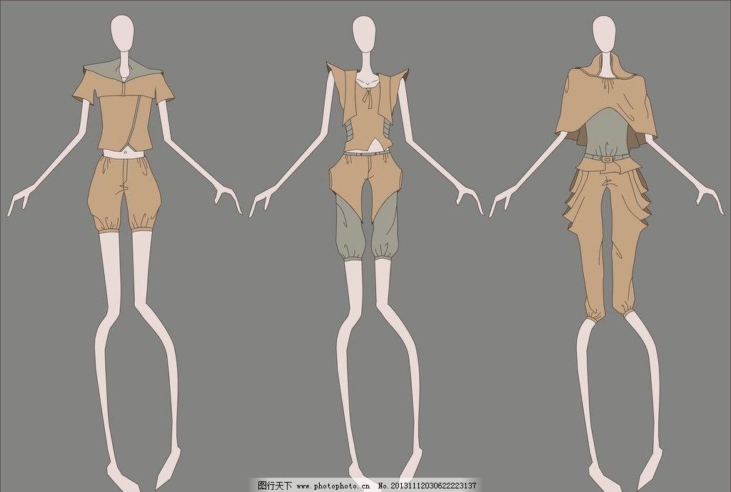 古典女装图片_服装设计_广告设计_图行天下图库
