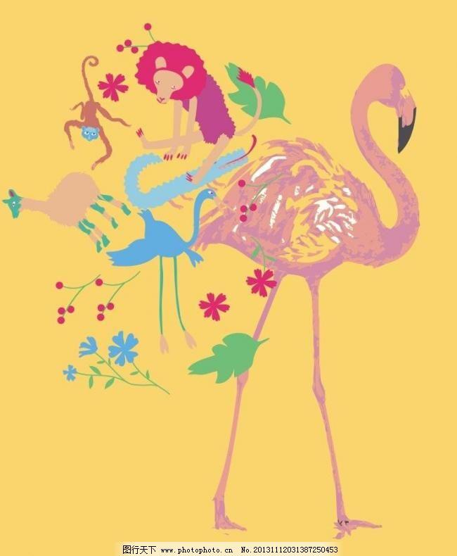 丹顶鹤图片,本本封面 插画 创意 创意插画 创意设计