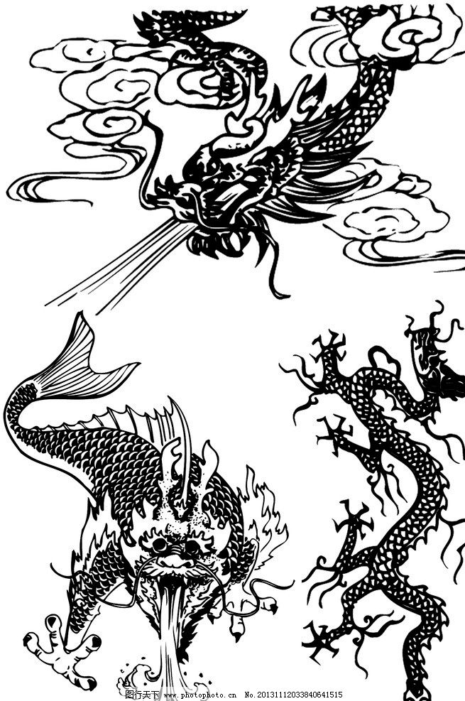 设计图库 其他 其他图片素材  中国龙凤图案 中国 龙凤 图案 原始