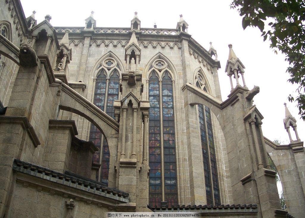 广州石室圣心教堂 哥特式建筑 全石结构 飞扶壁 石束柱 国内旅游 旅游
