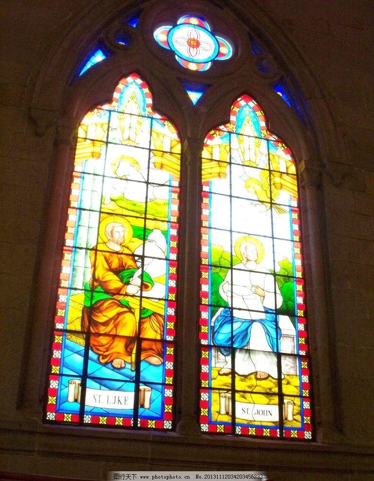 教堂彩玻璃图片