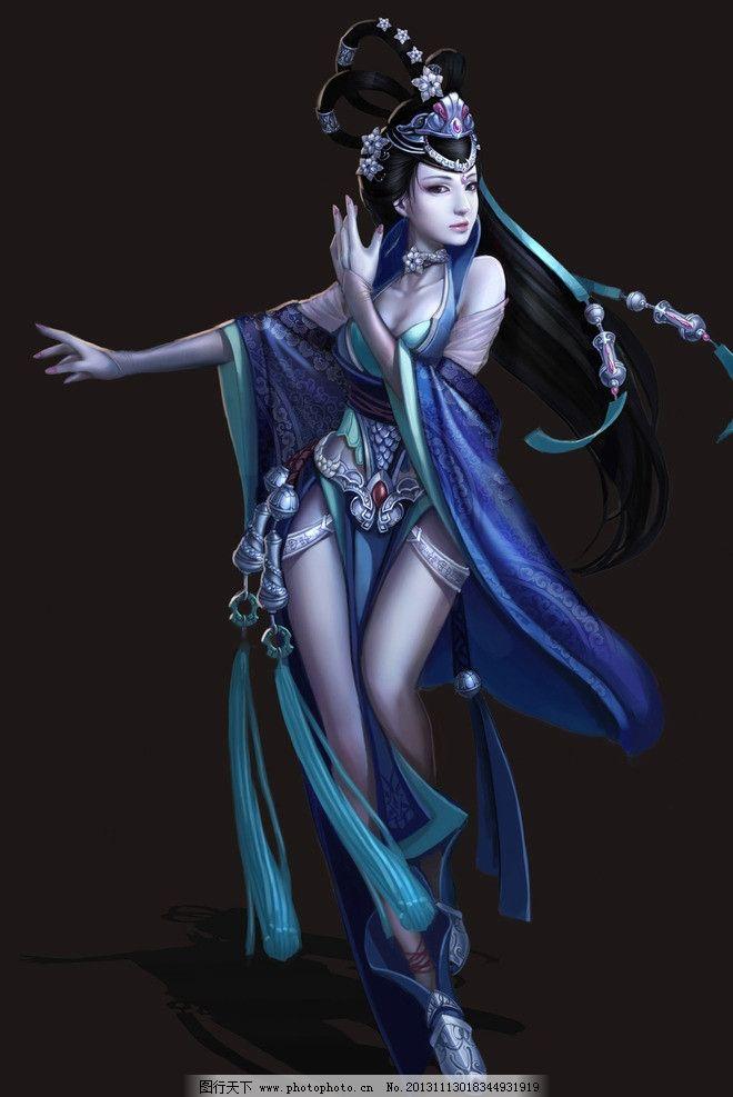 游戏美女 美女 手绘美女 游戏原画 古装 手绘 古装美女 动漫人物 动漫