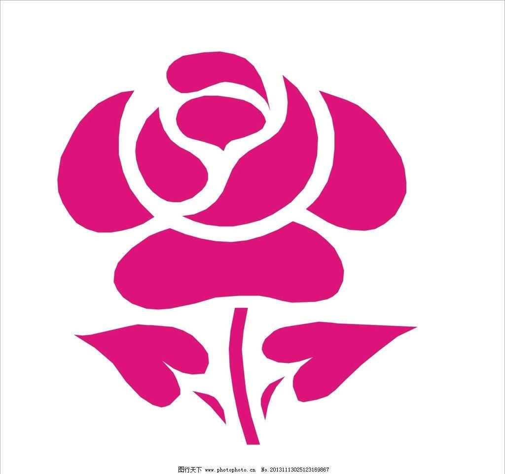 玫瑰 玫瑰花 玫瑰花设计 鲜花 矢量花 红玫瑰 一支玫瑰 手绘玫瑰花