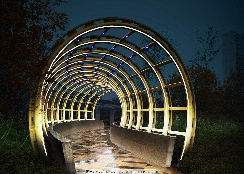 钢结构亮化效果 建筑照明 照明亮化 景观亮化 景观照明 钢结构泛光