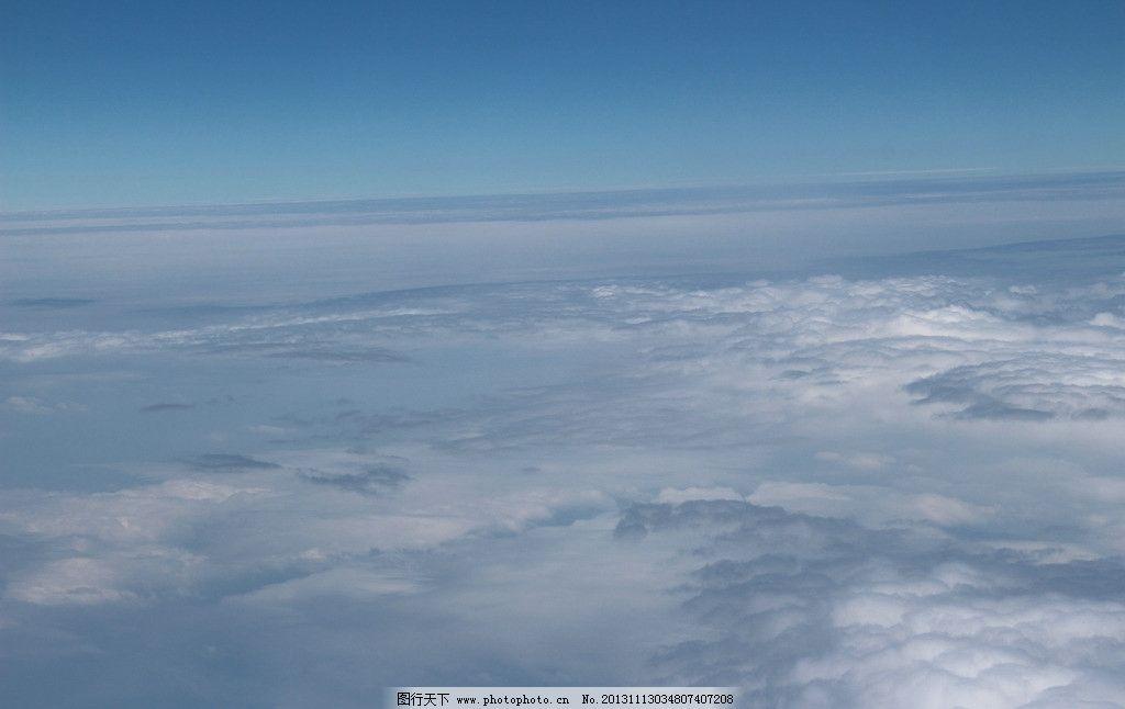 蓝天白云 蓝天 白云 云彩 云朵 空中 自然风景 自然景观 摄影 72dpi