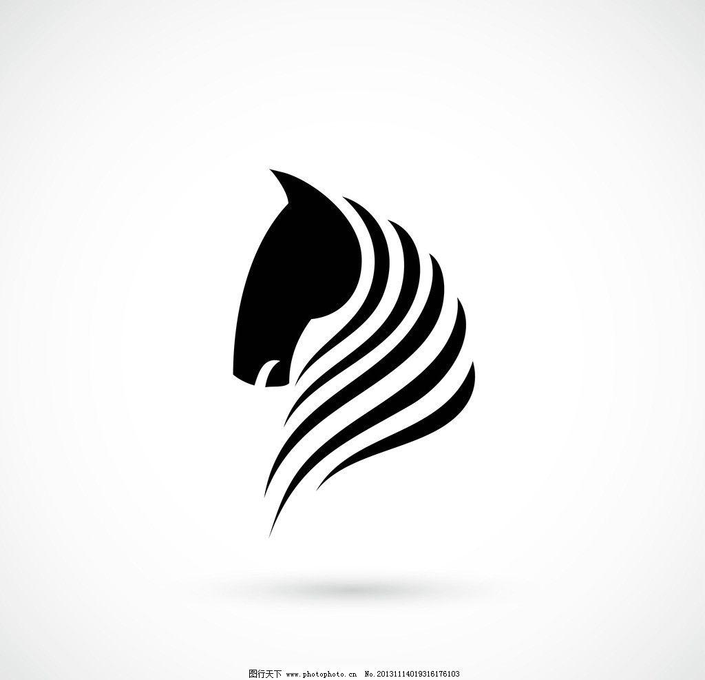 手绘马矢量素材图片