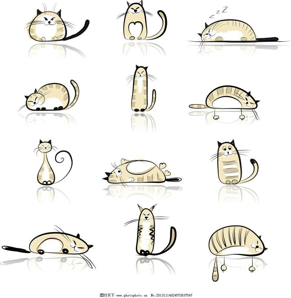 矢量卡通猫图片