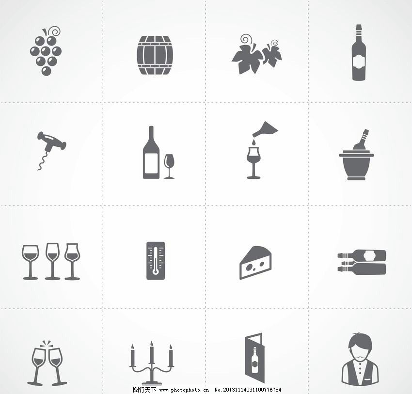 葡萄酒图标 葡萄酒 红酒