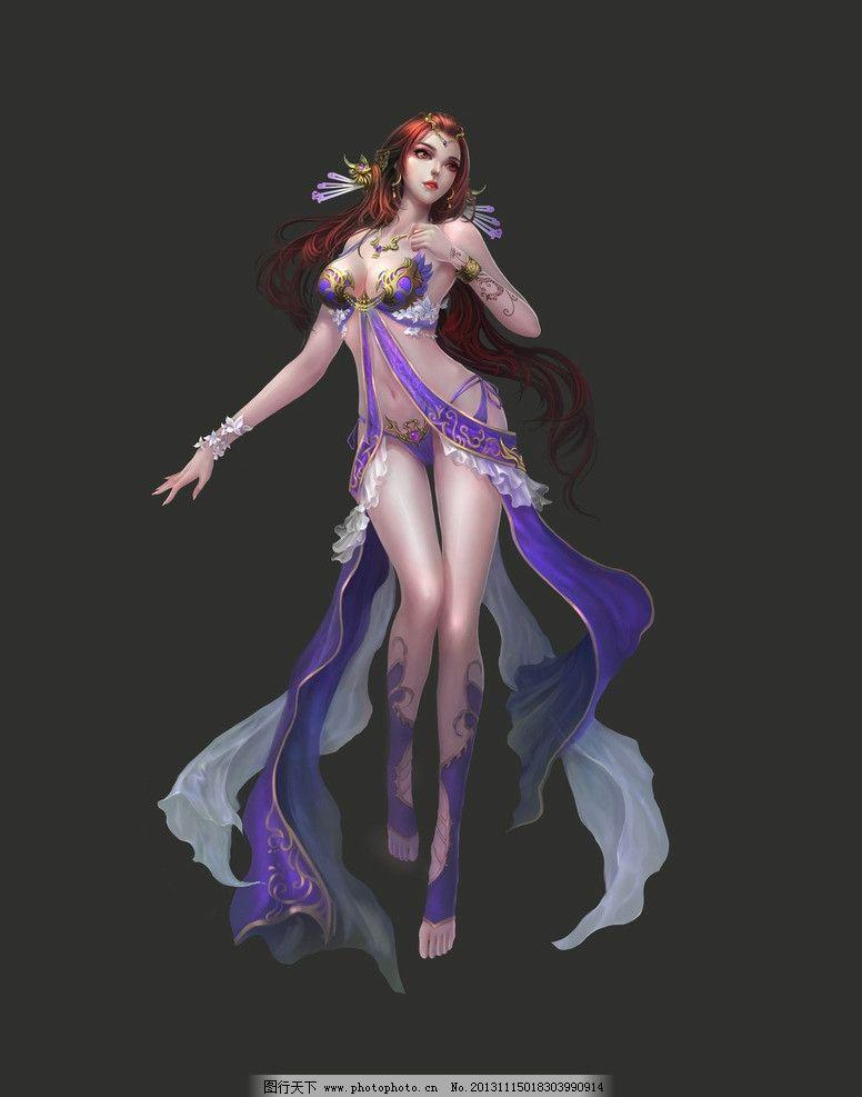 模板下载 游戏人物 游戏 动漫人物 游戏原画 网游人物 美女 扇子 手绘