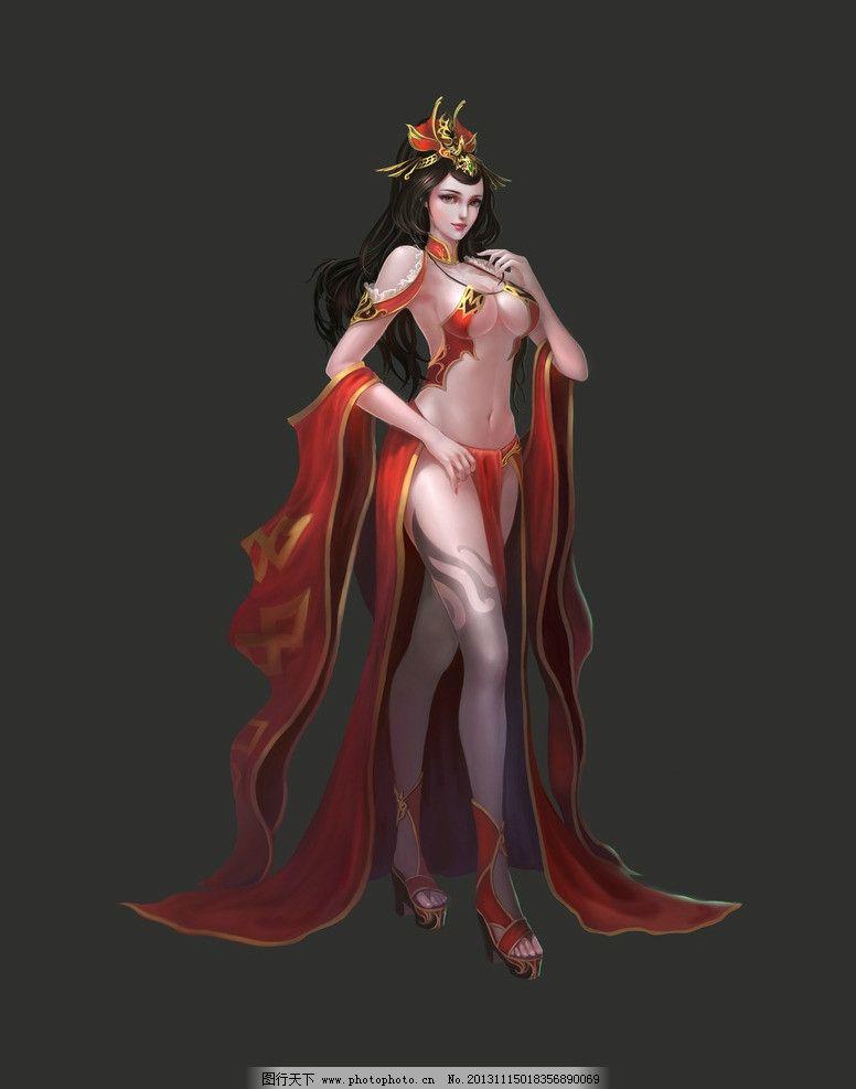 游戏人物 游戏 动漫人物 游戏原画 网游人物 美女 扇子 手绘美女 仙侠