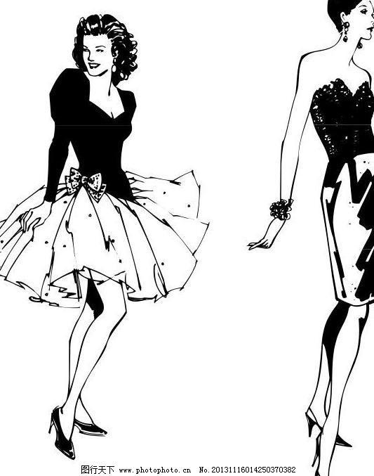 cdr 彩色 创意图 服装设计 服装效果图 绘画书法 美女 内裤 男装