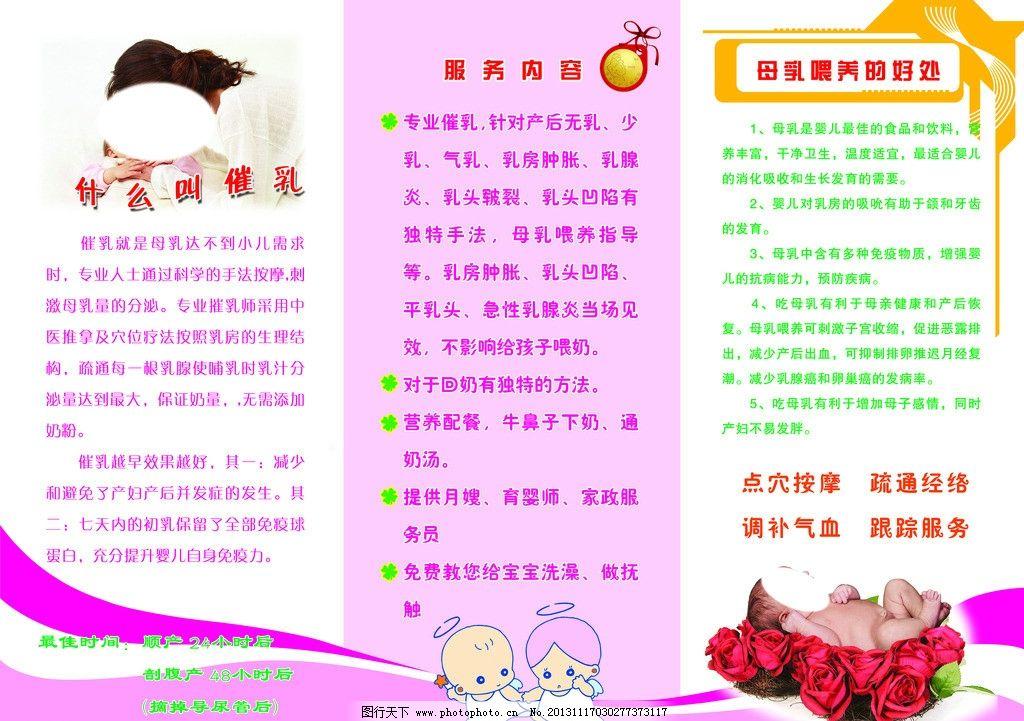 妈咪宝贝 育婴嫂 保姆 月嫂 dm宣传单 广告设计 家政服务 服务项目图片