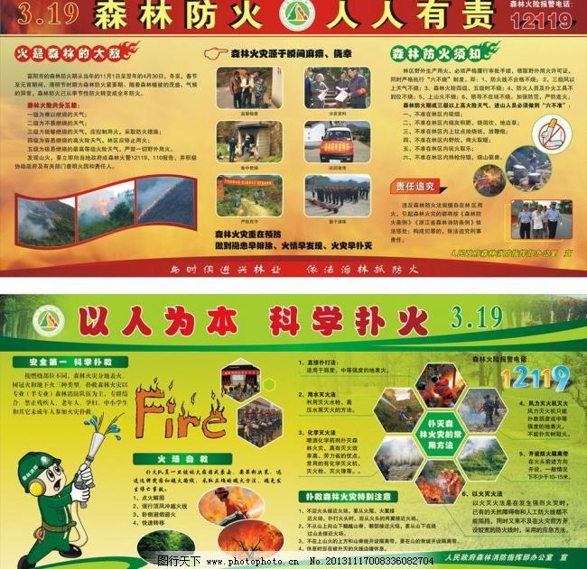 森林消防展板图片