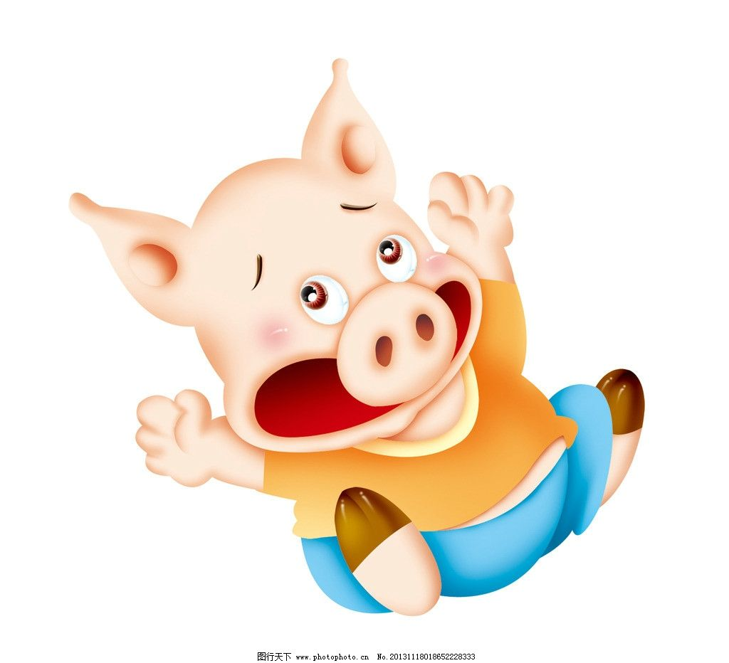 卡通猪 童话 绘画 可爱 儿童画 插画 卡通 漫画 小猪 猪年 生肖 其他