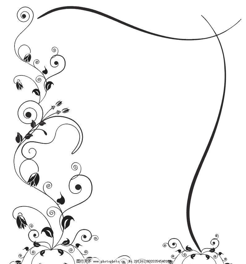 花藤圆形边框简笔画