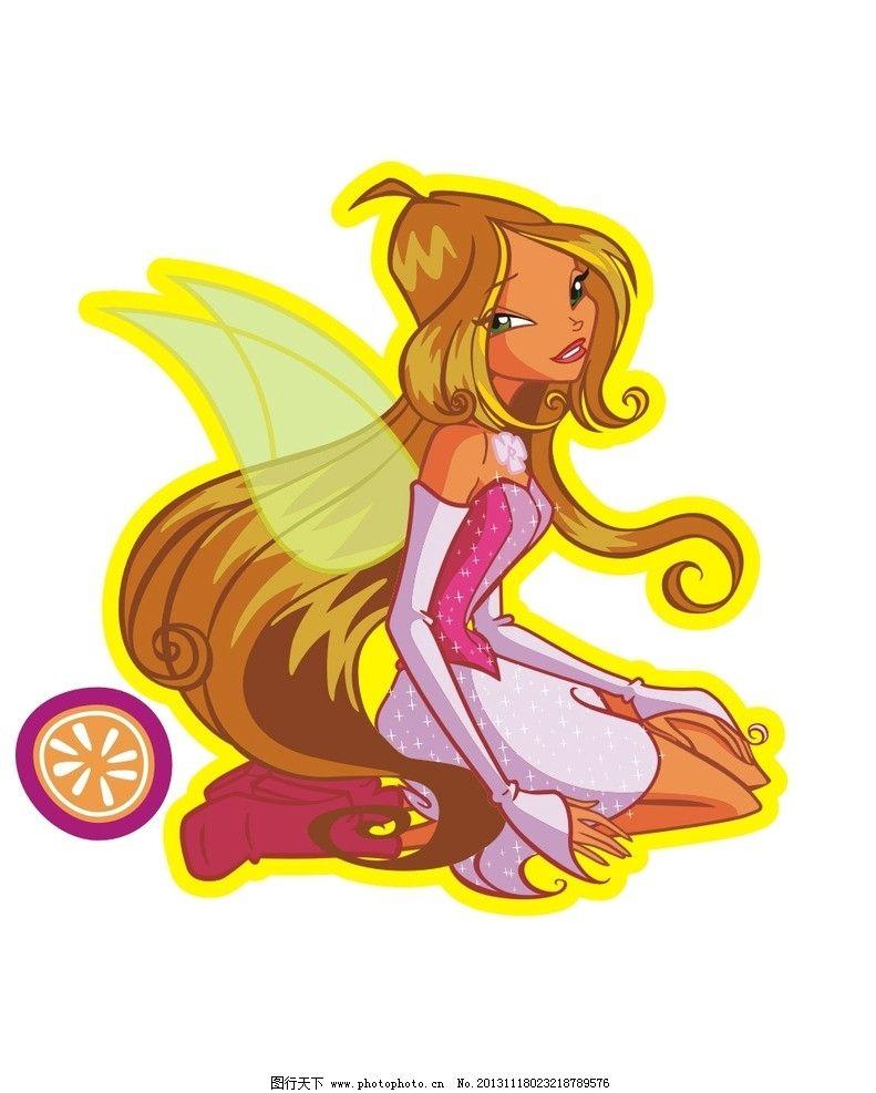 卡通女孩 美少女 性感女孩 卡通 儿童 t恤印花 儿童印花 印花 服装