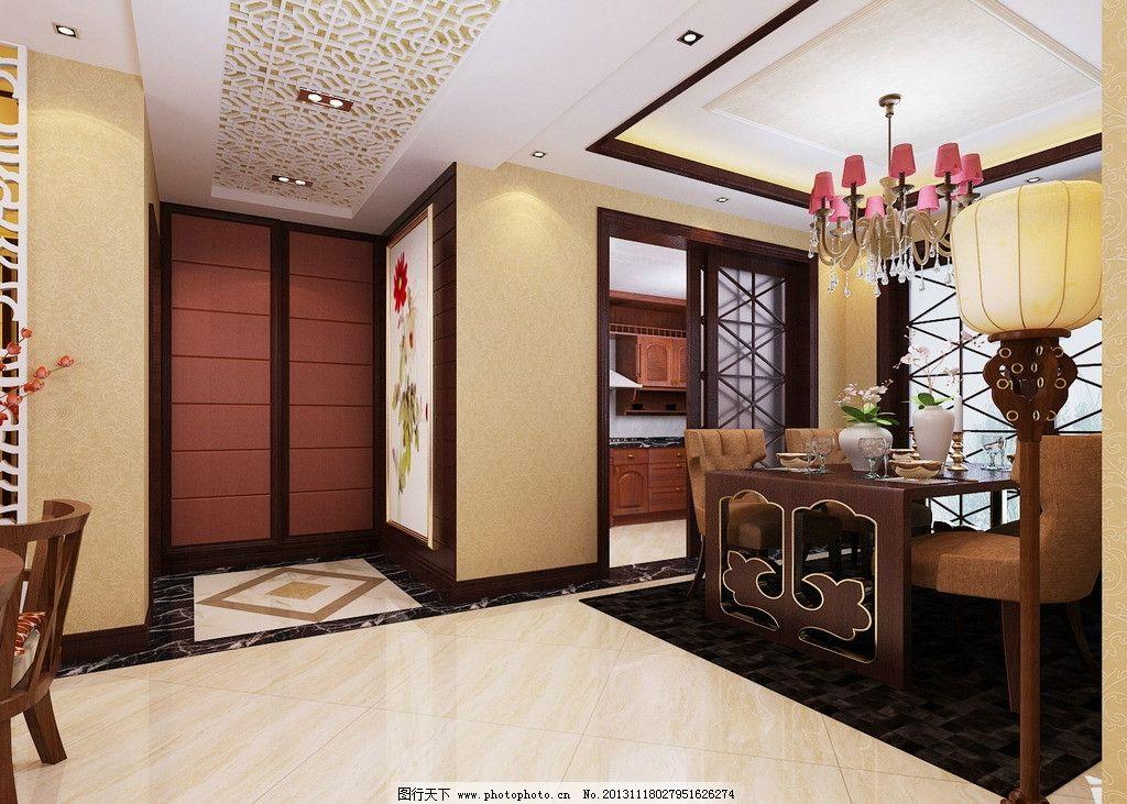 門廳設計效果圖 設計效果圖 門廳設計 中式風格 高清        室內設計