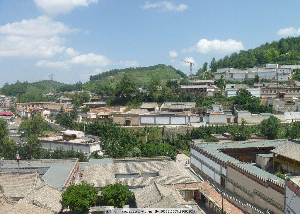 塔尔寺远景图片