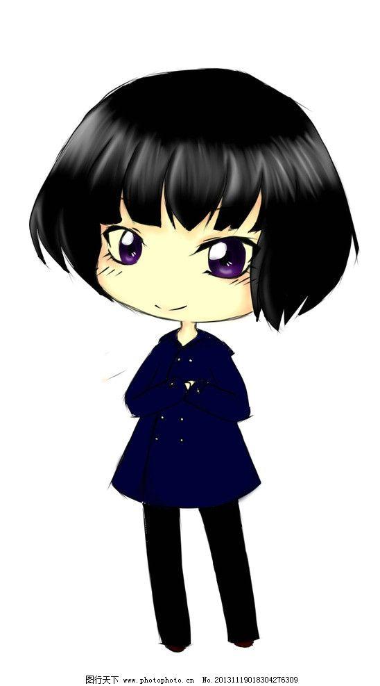 动画人物_动漫人物 q版 动漫 卡通 人物 手绘 短发 动漫动画 设计 72dpi jpg
