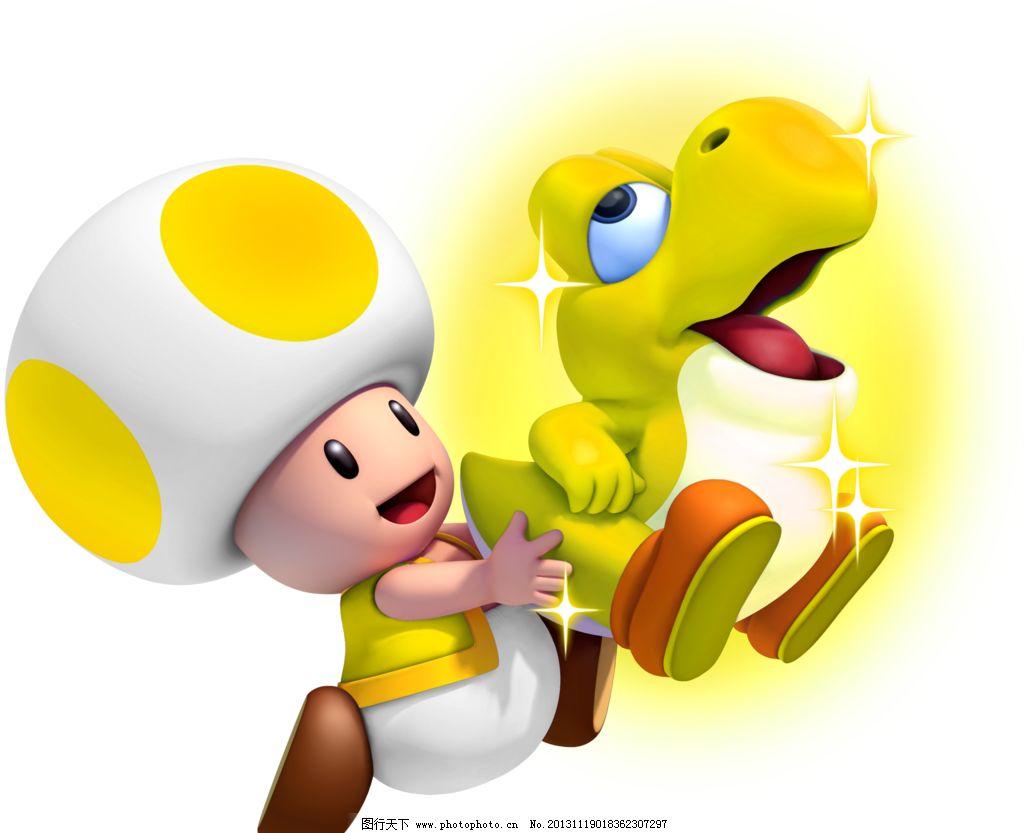 卡通人物 卡通角色 黄色蘑菇宝宝