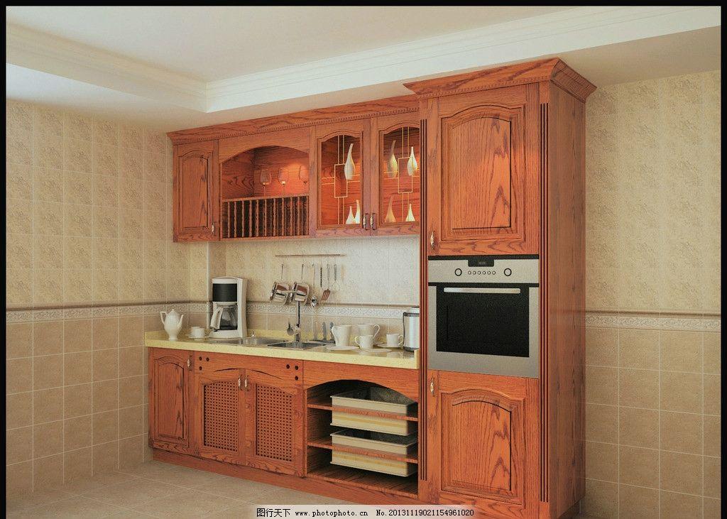 实木橱柜图片,红色橱柜 厨房 欧式橱柜 简欧橱柜 小
