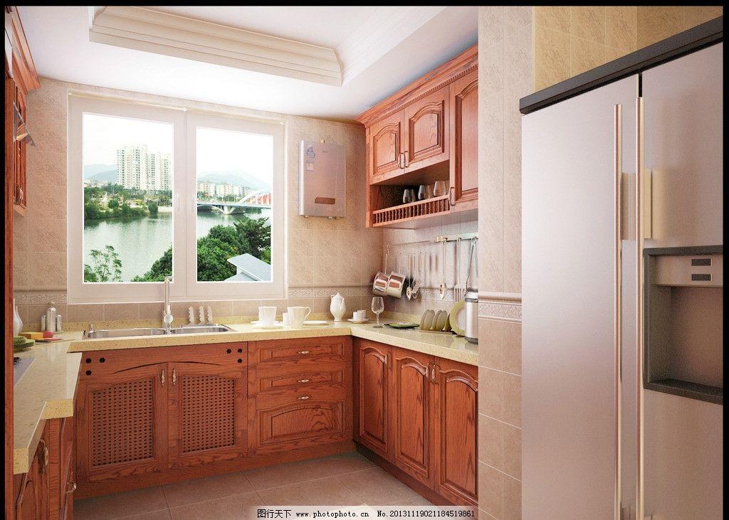 实木橱柜 红色橱柜 厨房 欧式橱柜 简欧橱柜 小橱柜 大橱柜