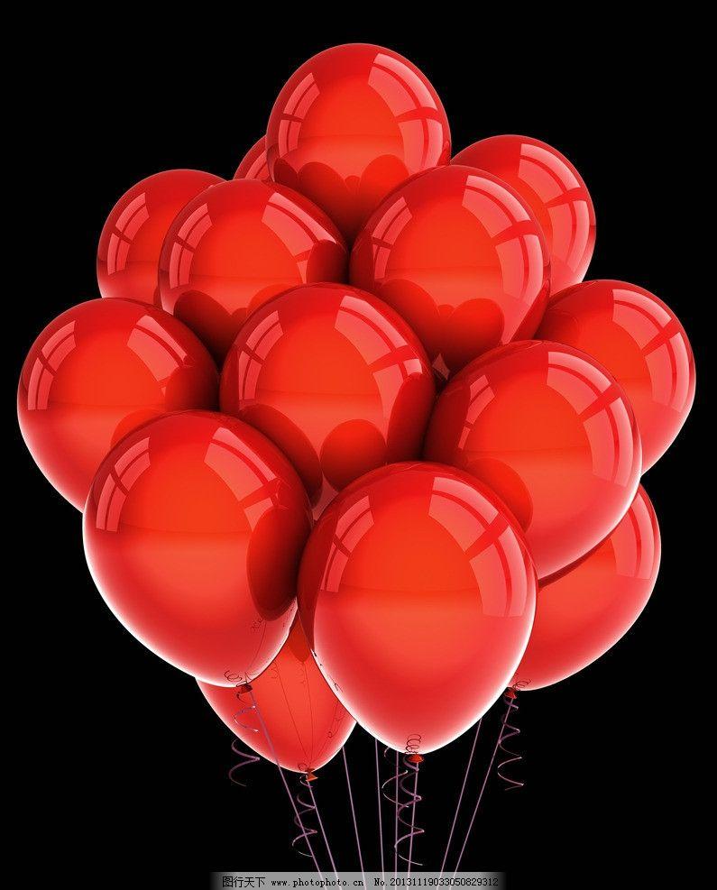 气球图片,彩色气球 彩带 节日素材 彩纸 色彩 红气球