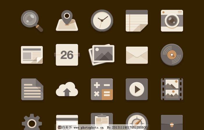 灰色扁平手机图标图片