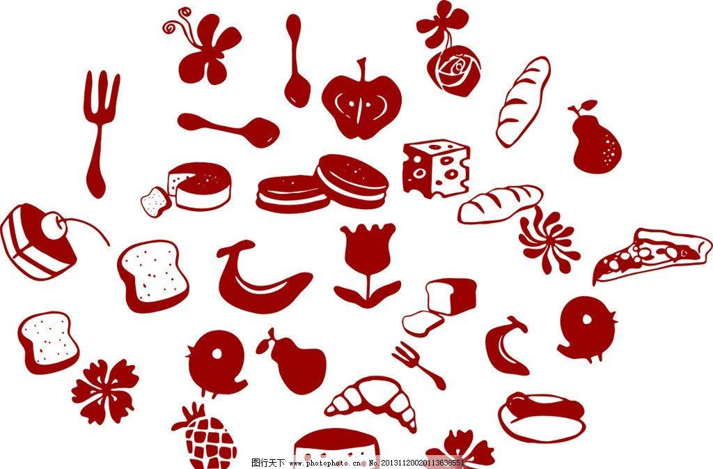 面包蛋糕 小标题 可爱图 简笔画 吐司 卡通设计 广告设计 矢量 cdr