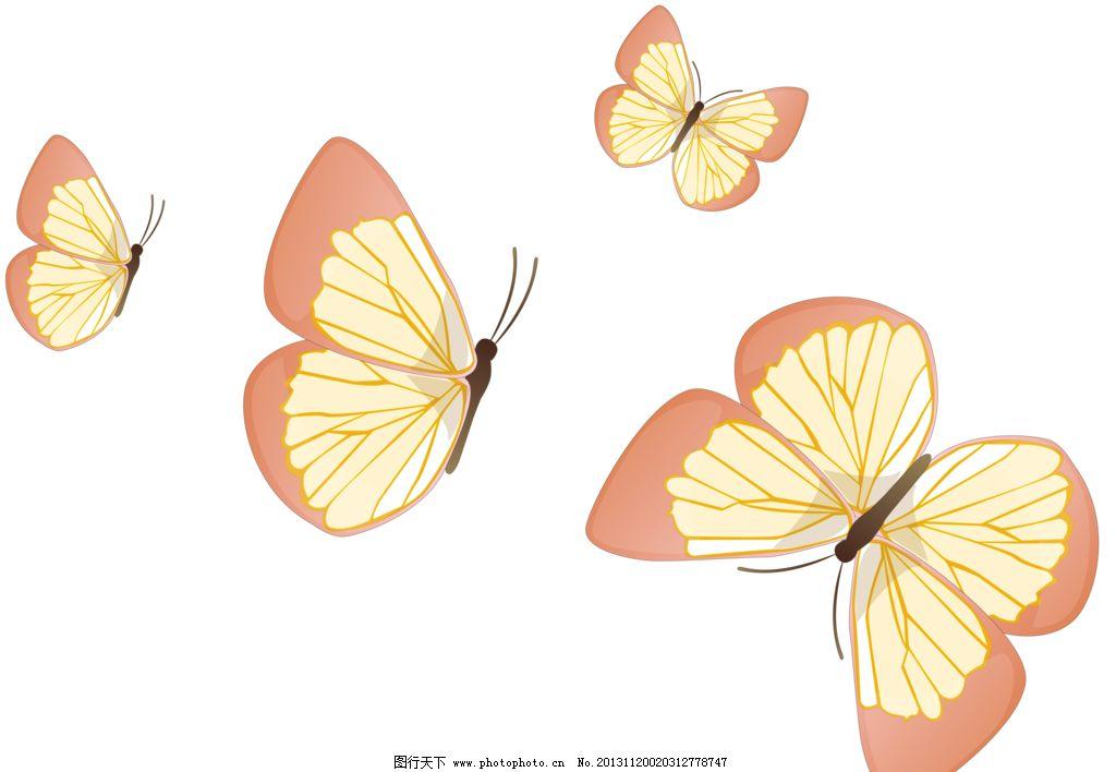 蝴蝶素材 手绘 彩色 设计 手绘花纹 花边花纹 底纹边框 118dpi png