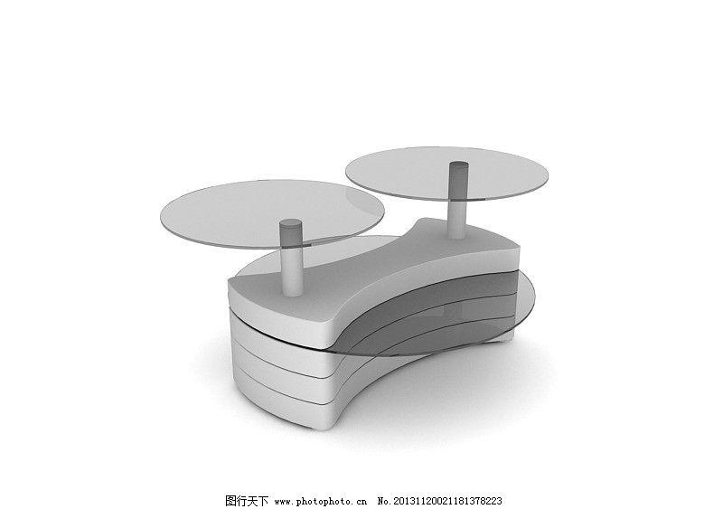 玻璃茶几 家具模型 室内模型 设计模型 单体模型 max室内模型 3d设计