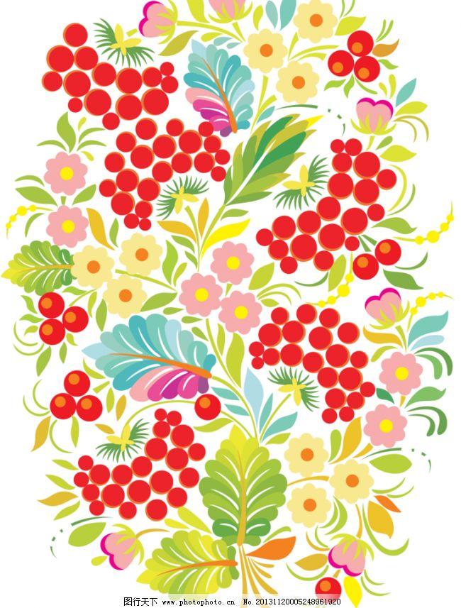 手绘花纹 精美花纹 手绘花朵