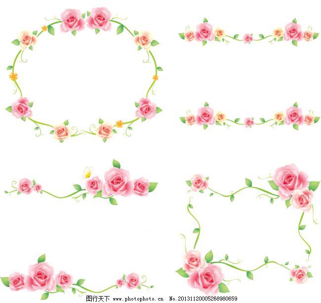 边框花纹模板下载 边框花纹 手绘边框 手绘花纹 相框 画框 玫瑰花边