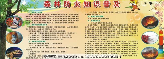森林防火展板宣传栏知识_其他_图片_图行天下初中生关于作文收税的图片