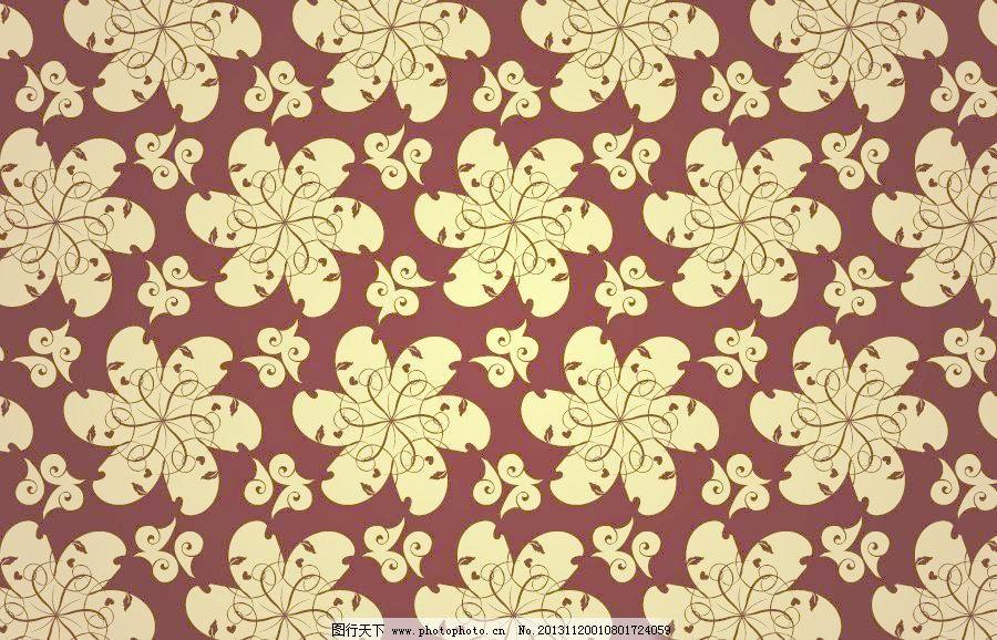 黄色 黄色底纹 黄色背景 黄色底图 中式 中式背景 花纹 欧式花纹 金色