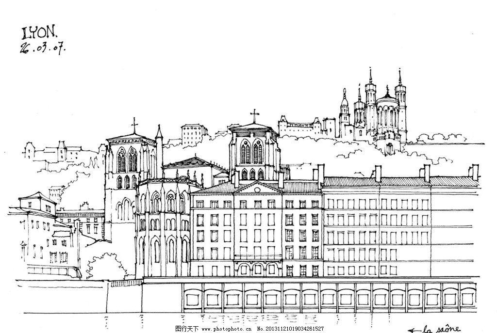 建筑手绘图 建筑手绘 速写 钢笔画 手绘 建筑线描 工笔画 绘画书法
