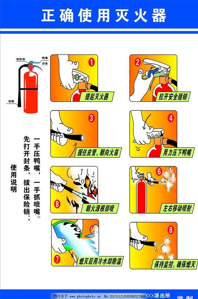 消费知识 灭火器使用 灭火器使用方法 消防 灭火器 海报设计 广告设计