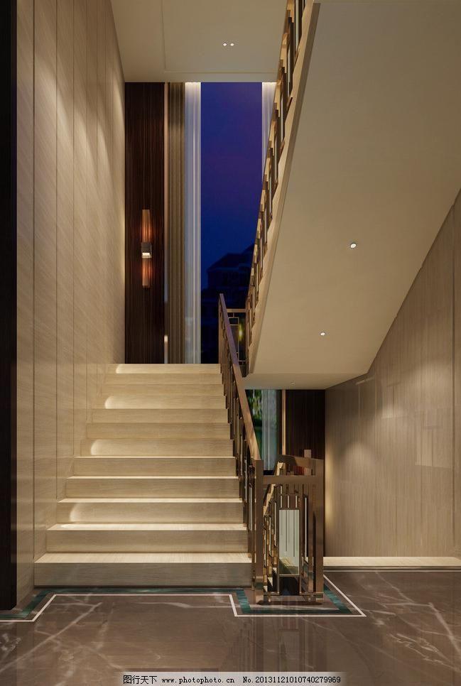 楼梯间效果图图片