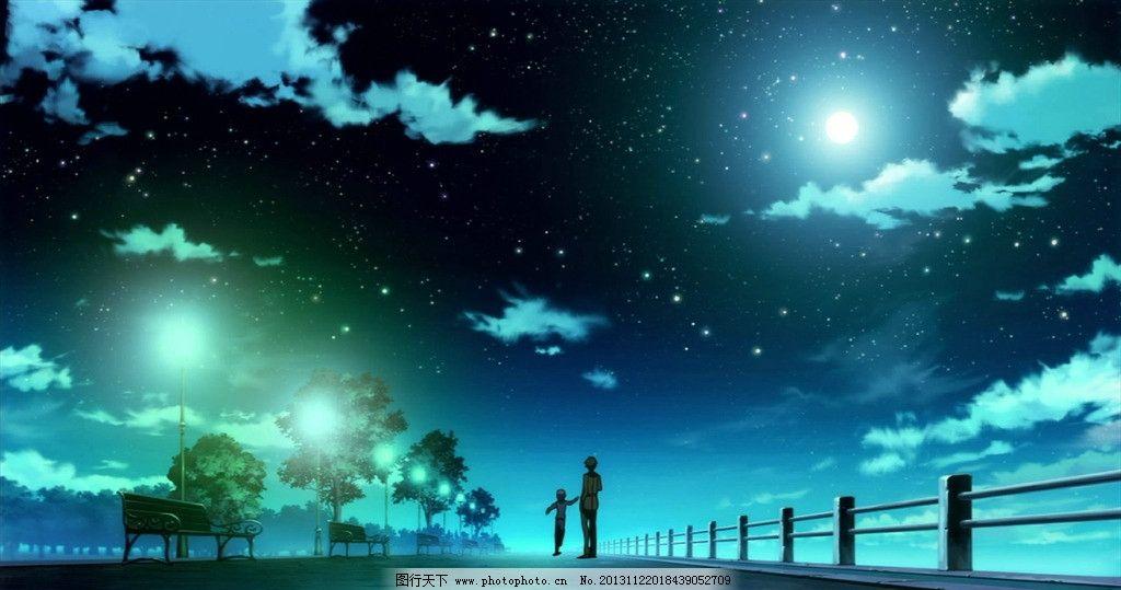 漫画天空 蓝色 天空 太阳 云 高清 壁纸 风景漫画 动漫动画 设计 72