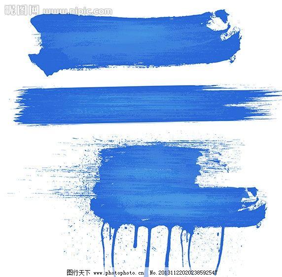 蓝色墨迹 墨迹墨点 水墨 水粉 水彩 涂鸦 墨迹 墨点 墨汁 磨痕 喷墨