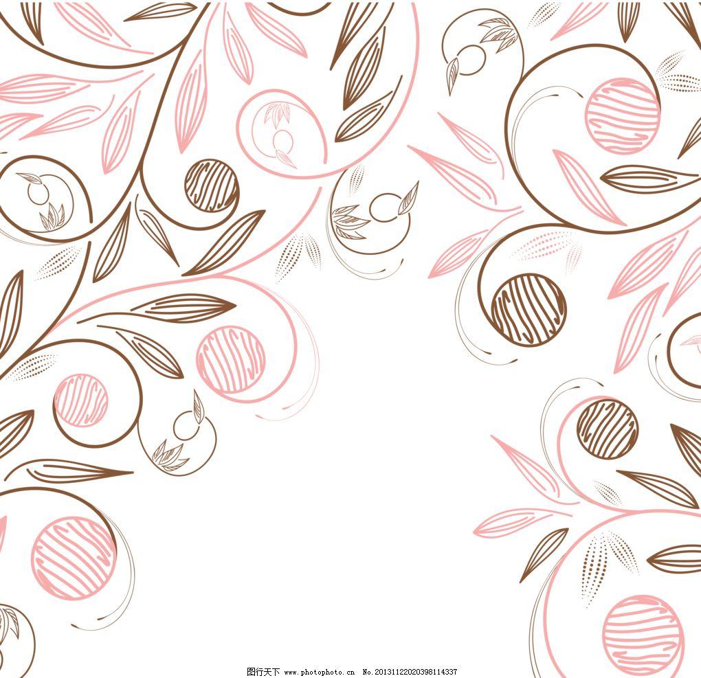 精美花纹 手绘花朵 移门花纹 文本边框 文本背景 文字背景 文字框