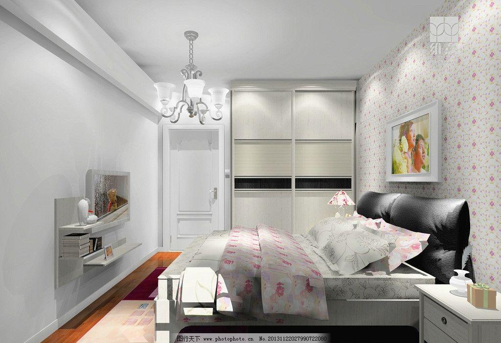 室内设计图片,卧室 床 衣柜 灯 床头柜 窗帘 家装图