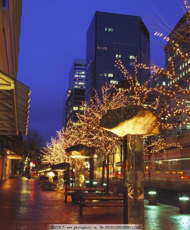 街道夜景 街道夜景图片免费下载 灯光 建筑景观 路灯 霓虹灯 摄影