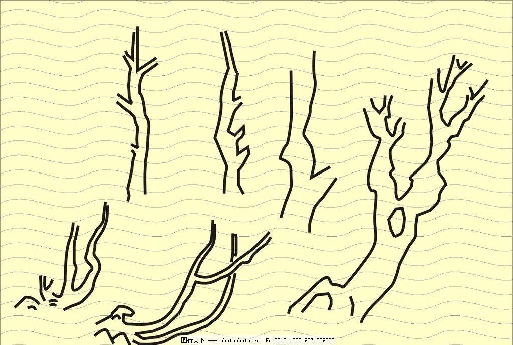 手绘树图片