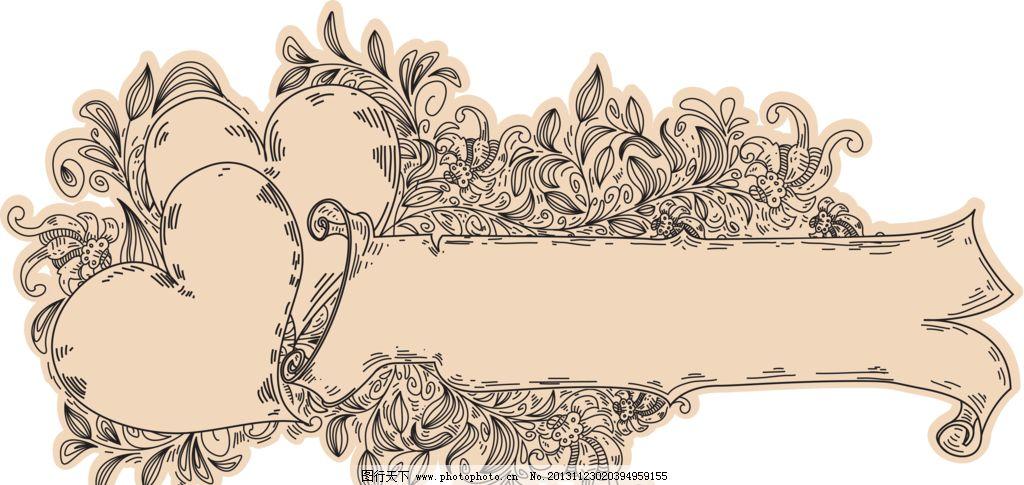 花纹 文本框 文字框 边框 挂角 精美花纹 手绘花朵 移门花纹 欧式花纹