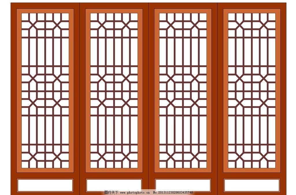 中式窗户 中式木门 木质窗户花纹 中式橱窗 线条 移门样式 移门 隔断